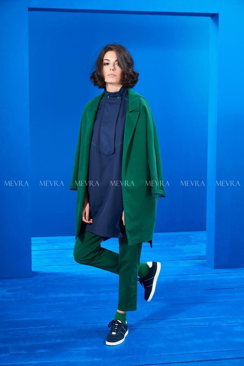 Yeşil Nakış Detay Blazer Ceket